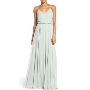 Anthropologie Jenny Yoo Inesse mint formal gown 14